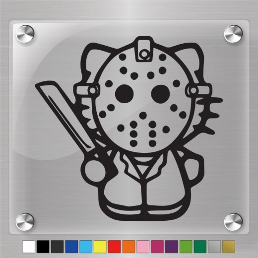 Hello Kitty Jason Voorhees Decal