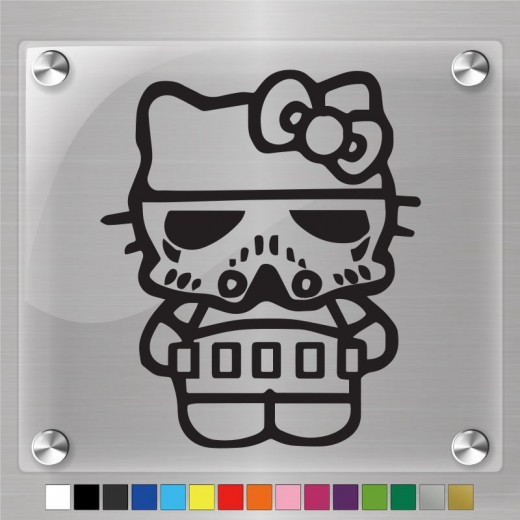 Hello Kitty Storm Trooper Decal