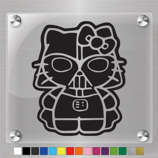 Hello Kitty Darth Vader  Decal