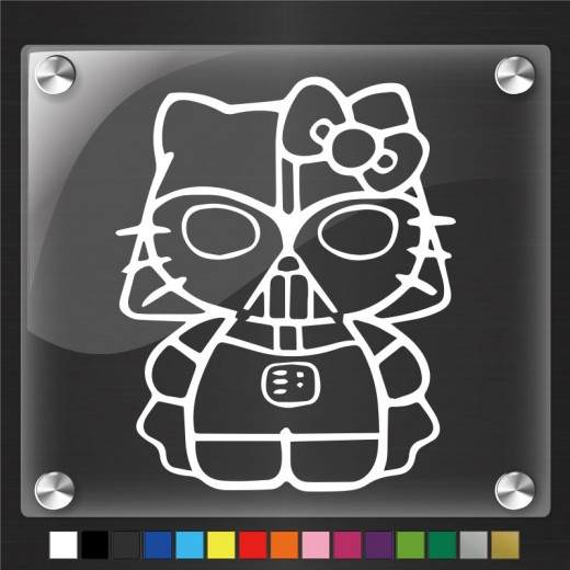 Hello Kitty Darth Vader Ver.2 Decal