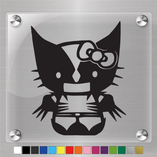 Hello Kitty Wolverine Decal