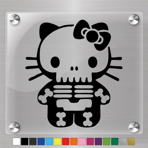 Hello Kitty X-Ray Skeleton Decal