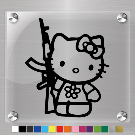 Hello Kitty Soldier Decal