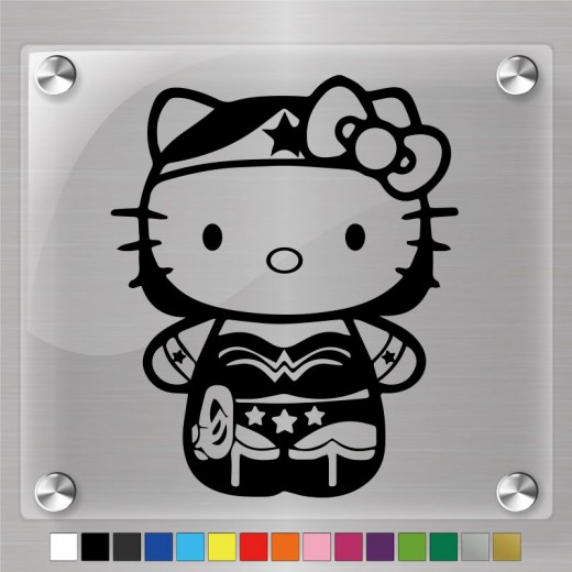 Hello Kitty Wonder Woman Decal