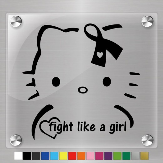 Hello Kitty Fight Like A Girl Decal