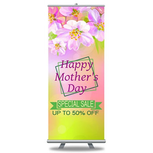 "Popup Banners and Stands 33"" x 79"""