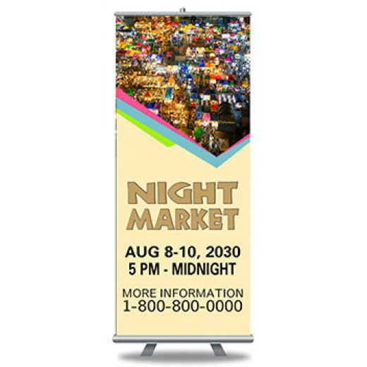 "Roll Up Banners Custom Full Color Print and Stand 33"" x 79"""