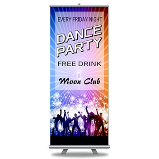 "Roll Up Banners and Stands 33"" x 79"""