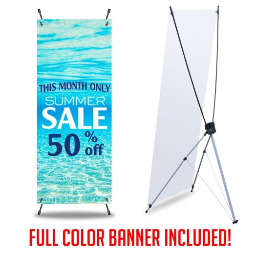 X Banner Stands and Custom Full Color