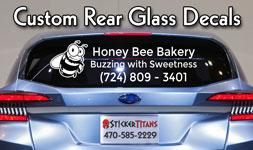 Custom Rear Glass Decals