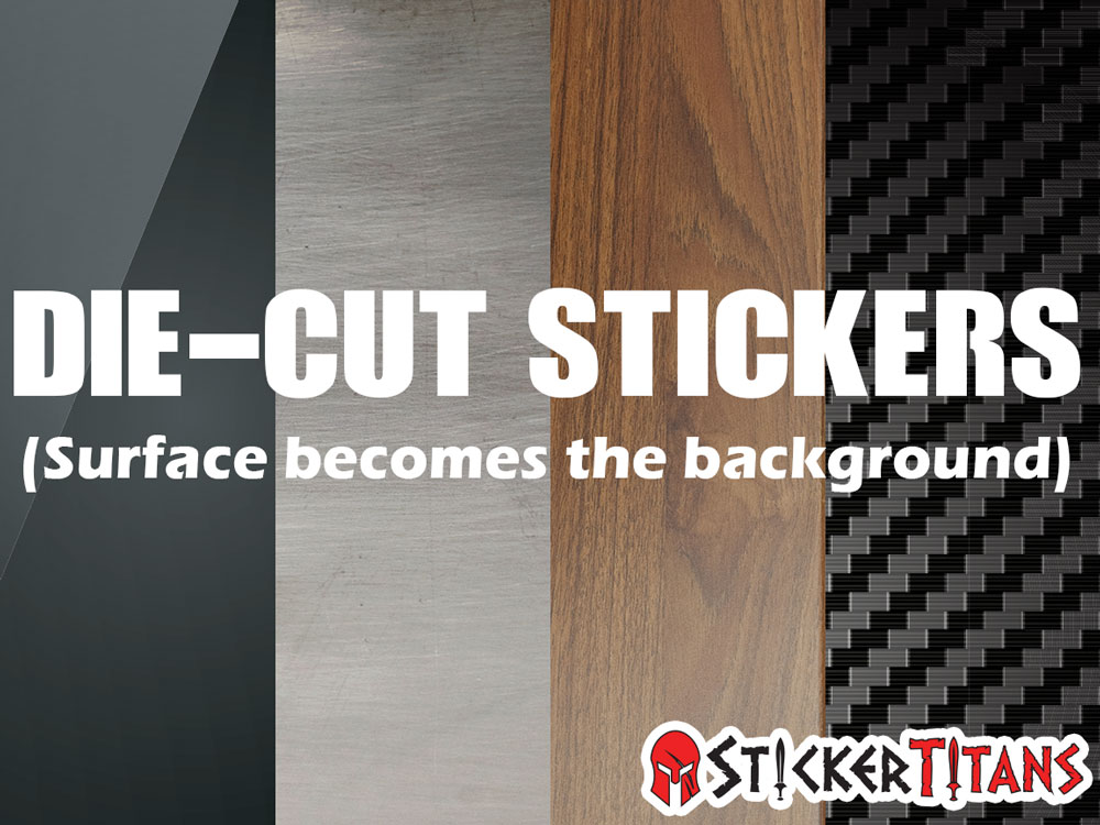 At StickerTitans, our die cut stickers are cut with a precision machine.